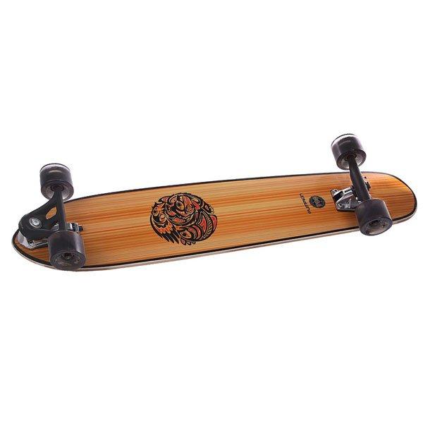 Лонгборд Pumpkin Liner 98 Cutback Complete Bamboo 8.25 x 38.5 (98 см)Лонгборд Pumpkin Liner 98 специально создан для легкого стритового серинга и круизинга. Гладкий, легкий и невероятно маневренный.Технические характеристики:  Дека из клена. Конструкция: топ маунт.  Конкейв: средний. Подвеска: Viking Inverse 180. Колеса: Viking WV 72mm.Подшипники: Abec 7. Шкурка.<br><br>Цвет: бежевый,коричневый<br>Тип: Лонгборд