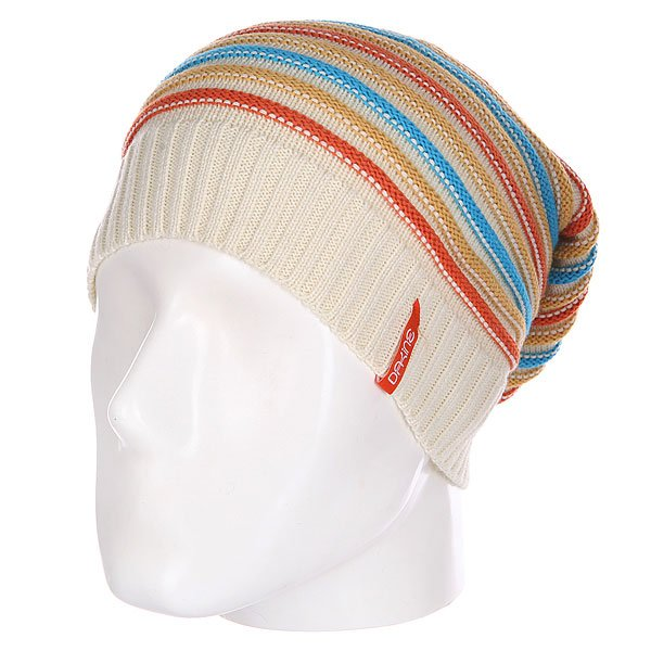 Шапка носок женская Dakine Cleo White Stripe<br><br>Цвет: бежевый,голубой,оранжевый<br>Тип: Шапка носок<br>Возраст: Взрослый<br>Пол: Женский