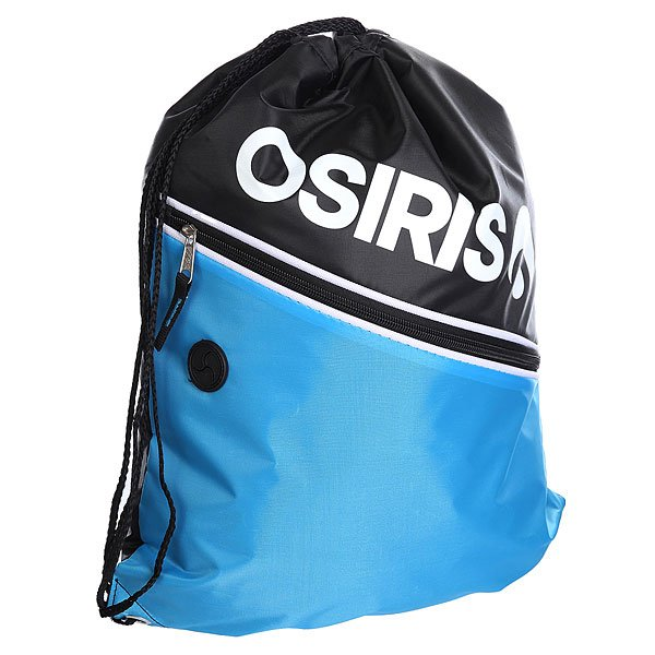Мешок Osiris Drawstring Gym Bag Black/Cyan