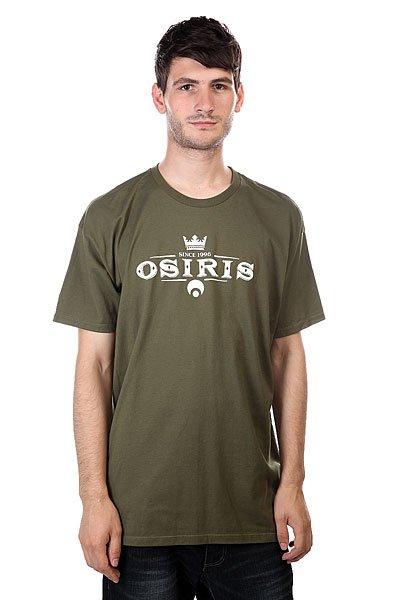 Футболка Osiris Tee Army<br><br>Цвет: зеленый<br>Тип: Футболка<br>Возраст: Взрослый<br>Пол: Мужской