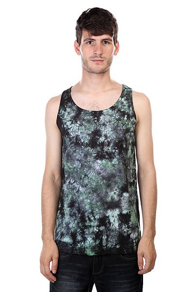 Майка Fallen Gerlach Tank Top Black/After Burn Blue