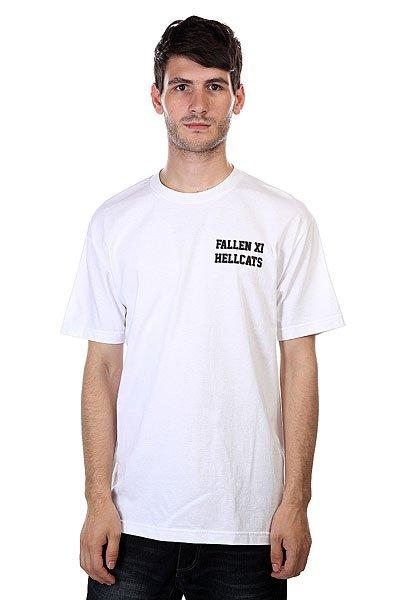 Футболка Fallen Hellcats White<br><br>Цвет: белый<br>Тип: Футболка<br>Возраст: Взрослый<br>Пол: Мужской