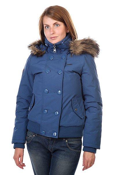 Куртка Element Becks Ii Dark BlueКороткая куртка в стиле большого города, удобная, теплая и практичная. Отличный вариант для активного отдыха или насыщенной городской жизни.Технические характеристики: Материал - Таслан.Стеганая подкладка.Утеплитель.Съемный капюшон с меховой отделкой.Искусственный мех на капюшоне.Внутренние трикотажные манжеты и подол.Карманы для рук на кнопке.Застежка на молнии с ветрозащитным клапаном.Металлический значок с логотипом Element.<br><br>Цвет: синий<br>Тип: Куртка зимняя<br>Возраст: Взрослый<br>Пол: Женский