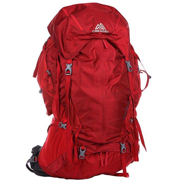 Рюкзак туристический Gregory Nw Baltoro Spark RedBaltoro 85- это функциональный и практичный трекинговый рюкзак. Отлично подойдет для горного и пешего туризма. В этом рюкзаке есть все для самого серьезного похода. Технологичный каркас рюкзака создает необходимую жесткость для комфортной переноски тяжестей, а плечевые лямки и пояс анатомической формы сделаю этот процесс максимально комфортным. Комфорт сохраняется при весе до 23 килограмм.  Характеристики: Прочный и надежный каркас из термически обработанного алюминия. Плечевые лямки и набедренный пояс сделаны из мягкого материала, который обеспечивает плотное прилеганиеи надежную посадку рюкзака.Две петли для крепления ледоруба или двух ледовых инструментов.Дополнительный вход снизу рюкзака и открывающаяся передняя часть позволяют добраться до нужных вещей наиболее коротким и удобным путем. Регулируемая по высоте грудная стяжка. На поясе с каждой стороны имеются карманы. Их размер позволяет уместить рацию или цифровой фотоаппарат. Удобный держатель для бутылки с водой.Термо-формируемая спинка рюкзака с эластомерной вставкой на пояснице.Регулируемый по высоте клапан при необходимости может быть снят и упакован в рюкзак. Возможна установка гидратора (питьевой системы). Водоотталкивающее покрытие ткани, защищенные молнии и двойное усиленное дно. Боковые стяжки, позволяющие уменьшить объем рюкзака при неполной загрузке. Также смещается центр тяжести рюкзака ближе к спине, благодаря чему движения становятся свободнее. Затяжка поясного ремня сделана по принципу полиспаста, что позволяет выиграть в силе. Более значимым плюсом здесь является изменение направления затягивания, в направлении от себя затягивать пояс гораздо удобнее.Карман спереди рюкзака для часто используемых мелочей.<br><br>Цвет: бордовый<br>Тип: Рюкзак туристический<br>Возраст: Взрослый<br>Пол: Мужской
