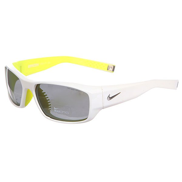 Очки Nike Optics Brazen Grey W/ Silver Flash Lens White/Electric Yellow