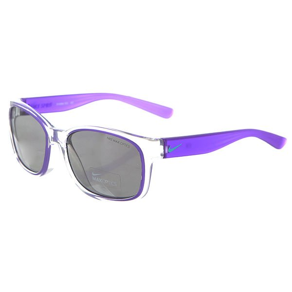 Очки женские Nike Optics Spirit Clear/Hyper Grape Grey W/Silver Flash Lens