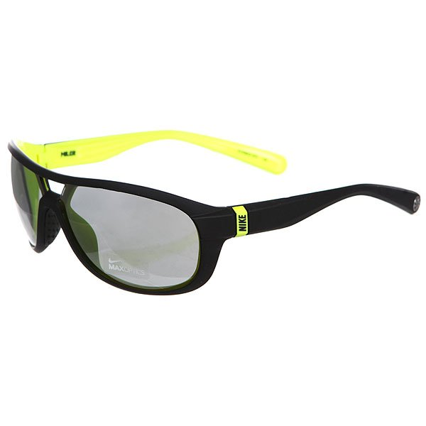 Очки Nike Optics Miler Matte Black/Volt/Grey Silver Flash Lens