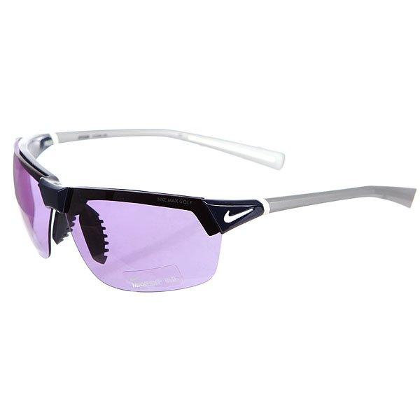 Очки Nike Optics Hyperion Max Golf Tint Lens Dark Obsidian/Matte PlatinumСпециальные тонированные линзы для игры в гольф  в очках Hyperion Max Golf.Технические характеристики:Вентилируемая резиновая переносица улучшает комфорт и уменьшает запотевание.Объемные оптические линзы для максимального охвата.100% защиты от УФ-лучей (UVA, UVB и UVC).Линзы Max Golf Tint - специальное покрытие для игры в гольф, которое уменьшает блики, придает четкость и ясность зрению.Легкая оправа для большего комфорта и долговечности.Футляр в комплекте.<br><br>Цвет: синий,серый<br>Тип: Очки<br>Возраст: Взрослый<br>Пол: Мужской