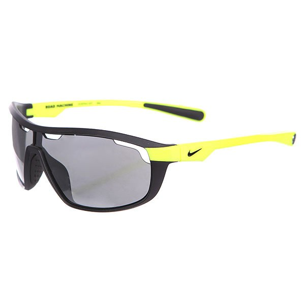 Очки Nike Optics Road Machine Matte Black/Volt Grey W/Silver Flash Lens