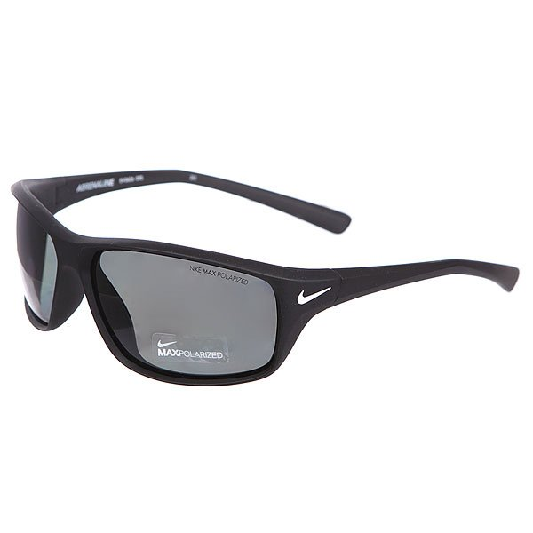 Очки Nike Optics Adrenaline Matte Black Grey Max Polarized LensСтильные и функциональные очки для спортсмена, живущего в каждом из нас.Технические характеристики: Поляризованные линзы Nike Polarized.Петли Cam-action.100% защиты от УФ-лучей (UVA, UVB и UVC).Легкий нейлоновый каркас для большего комфорта и долговечности.Футляр в комплекте.<br><br>Цвет: черный<br>Тип: Очки<br>Возраст: Взрослый<br>Пол: Мужской