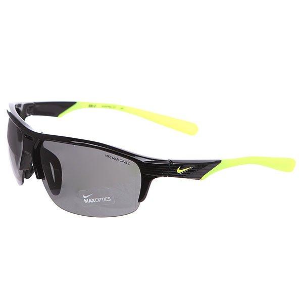 Очки Nike Optics Run X2 Grey Lens Black/VoltСолнцезащитные очки в облегченной оправе созданные специально для бега.Технические характеристики: Линзы Nike Max Optics для четкого изображения с любого ракурса.100% защиты от УФ-лучей (UVA, UVB и UVC).Легкий нейлоновый каркас для большего комфорта и долговечности.Регулируемые силиконовые вентилируемые носовые упоры и дужки.Возможность установки сменных линз.Объемные линзы для лучшего периферического зрения.Покрытие линз Ripel, которое отталкивает грязь, масло, воду.Петли Cam-action.<br><br>Цвет: черный,желтый<br>Тип: Очки<br>Возраст: Взрослый<br>Пол: Мужской