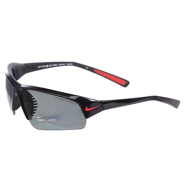 Очки Nike Optics Skylon Ace Pro P (Grey Max Polarized), Shiny Black/Matte BlackЛегкие и комфортные очки, которые идеально подходят для занятия спортом. Очки всегда останутся на своем месте, благодаря спортивной оправе, а также прорезиненным элементам.Технические характеристики: Возможность смены линз.Объемные линзы для максимального охвата.100% защиты от УФ-лучей (UVA, UVB и UVC).Поляризованные линзы Nike Max Polarized для четкого изображения с любого ракурса.Легкий нейлоновый каркас для большего комфорта и долговечности.Петли Cam-action.Вентилируемый мост улучшает комфорт и уменьшает запотевание.Регулируемые окончания заушников, также обеспечивают устойчивость оправы.Футляр в комплекте.<br><br>Цвет: черный<br>Тип: Очки<br>Возраст: Взрослый<br>Пол: Мужской