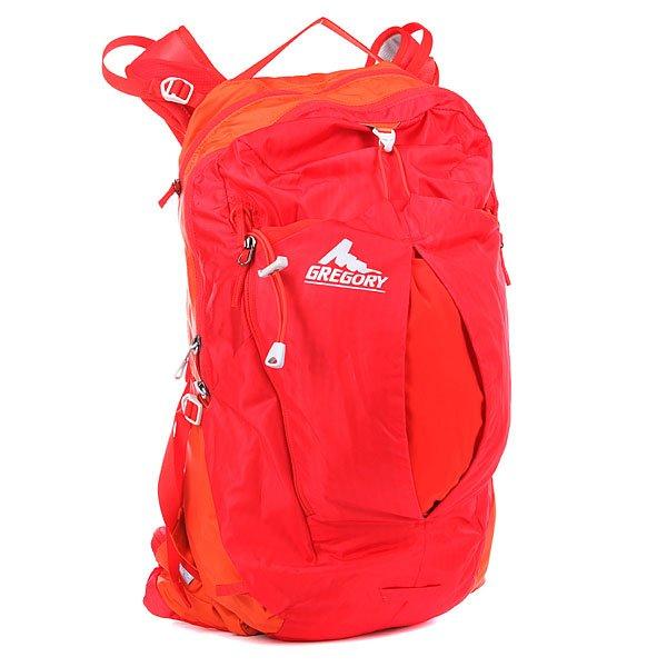 Рюкзак спортивный Gregory Nw Miwok Tropic OrangeРюкзак Miwok  воплощает идеалы туриста, любящего перемещаться быстро и налегке. Компактный, простой, но при этом функциональный рюкзак хранит вашу воду, пищу и легкую одежду, пока вы лезете вверх, и надежно фиксируется на спине, когда вы несетесь вниз по тропе. Расширяющийся внешний карман позволяет вам хранить дополнительные предметы, к которым требуется быстрый доступ. Характеристики: Технология подвески BioSync, позволяющая рюкзаку двигаться вместе с вами без ограничений.Главное отделение на молнии с двумя карманами из сетки. Растягивающийся карман спереди с эластичной застежкой подходит для шлема.Парные внешние карманы по бокам. Двойные карманы на поясе с быстрым доступом.Шланг питьевой системы с внешним доступом. Утяжки по бокам. Клипса для трубки питьевой системы на плечевой лямке. Петля на плечевой лямке для солнечных очков. Низко расположенная точка крепления сигнального фонарика.<br><br>Цвет: оранжевый,красный<br>Тип: Рюкзак спортивный<br>Возраст: Взрослый<br>Пол: Мужской