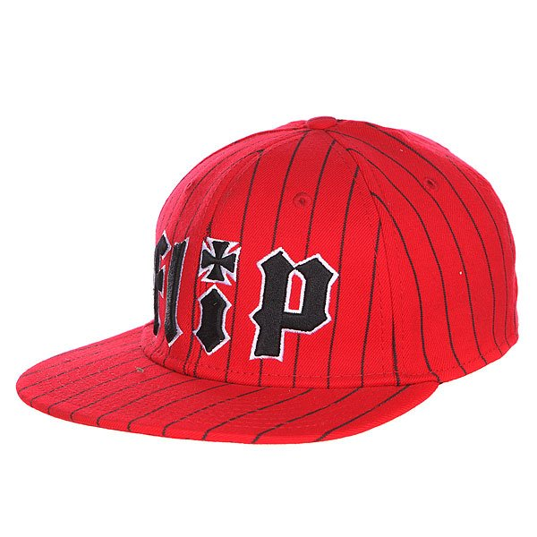 бе-йсболка-flip-pinstriped-stretch-hat-red