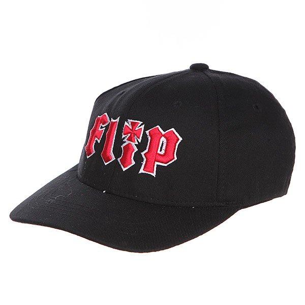 Бейсболка детская Flip Youth Metalhead Hat Black<br><br>Цвет: черный,красный<br>Тип: Бейсболка классическая<br>Возраст: Детский
