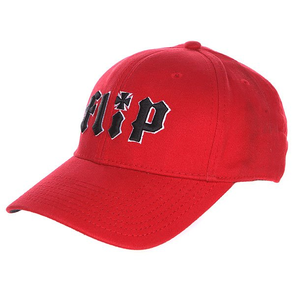 бе-йсболка-де-тский-flip-youth-metalhead-hat-red