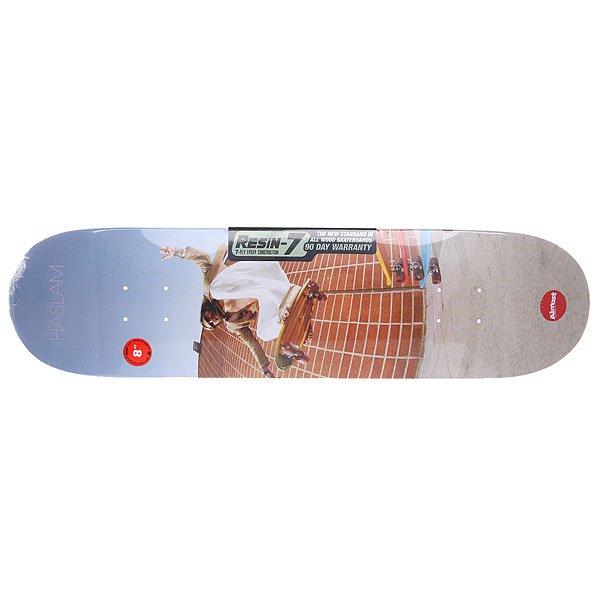 Дека для скейтборда для скейтборда Almost Seu Trihn Colab R7 Haslam 31.7 x 8 (20.3 см)Ширина деки: 8 (20.3 см)    Длина деки: 31.7 (80.5 см)    Количество слоев: 7<br><br>Цвет: мультиколор<br>Тип: Дека для скейтборда