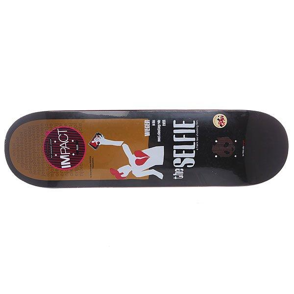 Дека для скейтборда для скейтборда Enjoi Movie Poster Sequel Impact Plus Wieger 31.8 x 8.38 (21.3 см)Ширина деки: 8.38 (21.3 см)    Длина деки: 31.8 (80.8 см)    Количество слоев: 7<br><br>Цвет: черный,белый,коричневый<br>Тип: Дека для скейтборда