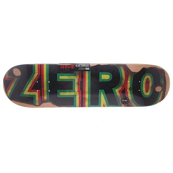 Дека для скейтборда для скейтборда Zero Burning Bold R7 Sandoval 31.7 x 8.125 (20.6 см)Ширина деки: 8.125 (20.6 см)    Длина деки: 31.7 (80.5 см)    Количество слоев: 7<br><br>Цвет: зеленый,черный,желтый,красный<br>Тип: Дека для скейтборда