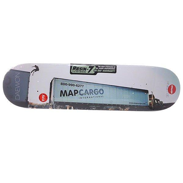 Дека для скейтборда для скейтборда Almost Seu Trihn Colab R7 Daewon 31.1 x 7.75 (19.7 см)Ширина деки: 7.75 (19.7 см)    Длина деки: 31.1 (79 см)    Количество слоев: 7<br><br>Цвет: белый,голубой<br>Тип: Дека для скейтборда