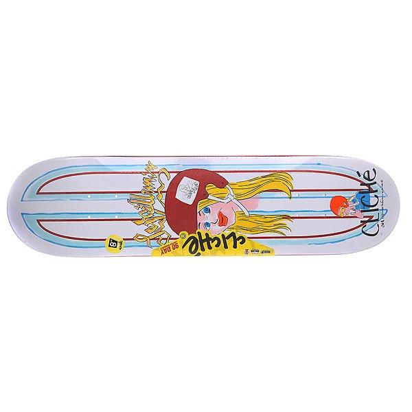 Дека для скейтборда для скейтборда Cliche Lem Villemin Gonz R7 Multicolor 31.7 x 8 (20.3 см)Ширина деки: 8 (20.3 см)    Длина деки: 31.7 (80.5 см)    Количество слоев: 7Эта доска подарит вам массу незабываемых впечатлений от катания. Технические характеристики: 7-слойная конструкция из канадского клена.  Конкейв: mellow.  Конструкция: Resin 7. Про-модель Lem Villemin. Дизайн: Mark Gonzales.<br><br>Цвет: мультиколор<br>Тип: Дека для скейтборда