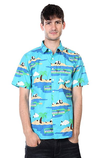Рубашка Enjoi Social Status Turquoise