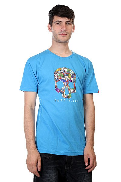Футболка Lost Boardskull Blue<br><br>Цвет: голубой<br>Тип: Футболка<br>Возраст: Взрослый<br>Пол: Мужской