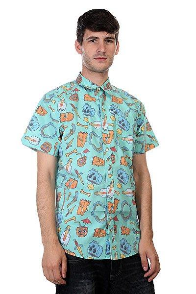 Рубашка Lost Broken Dreams Aqua<br><br>Цвет: голубой<br>Тип: Рубашка<br>Возраст: Взрослый<br>Пол: Мужской