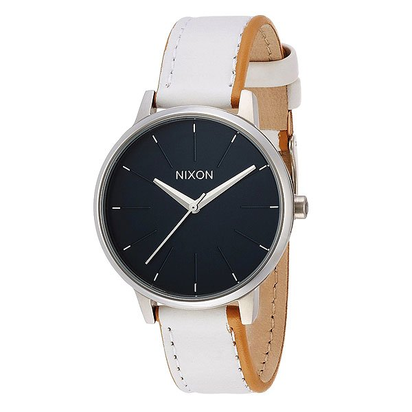 Часы женские Nixon Kensington Leather Navy/White часы женские nixon kensington all white gold o s