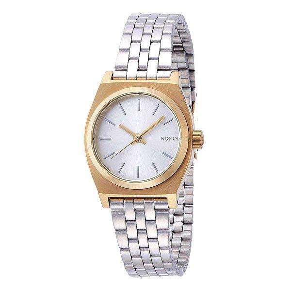 где купить Часы женские Nixon Small Time Teller Gold/Silver по лучшей цене