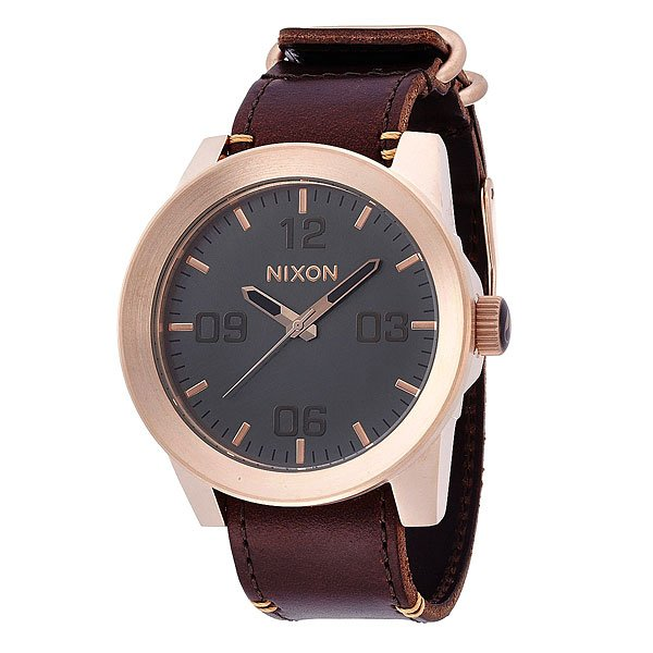 Часы Nixon Corporal Rose Gold/Gunmetal/Brown часы nixon corporal ss gunmetal green oxyde