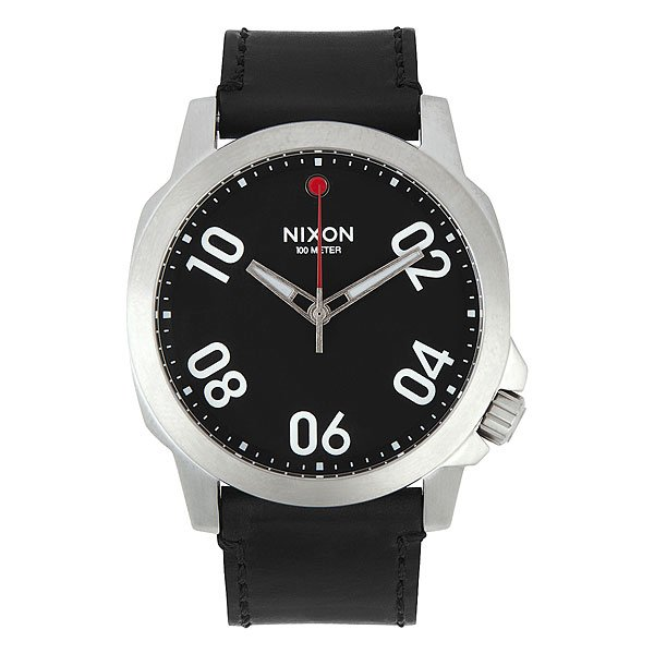 Часы Nixon Ranger 45 Leather Black/Red nixon часы nixon a514 2072 коллекция ranger