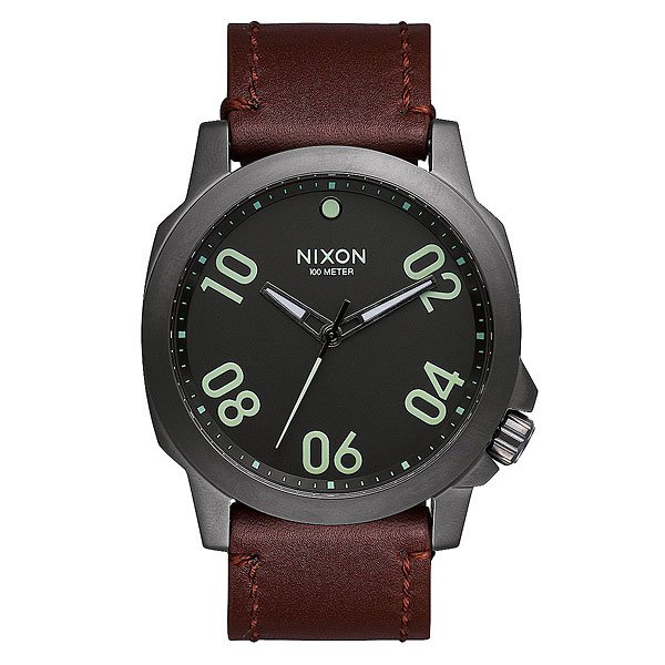 Часы Nixon Ranger 45 Leather Gunmetal/Dark Brown nixon часы nixon a514 2072 коллекция ranger