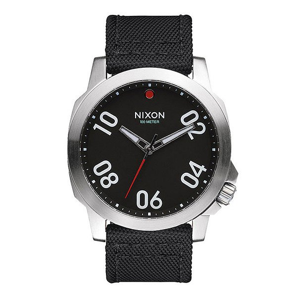 Часы Nixon Ranger 45 Nylon Black/Red часы nixon corporal ss matte black industrial green