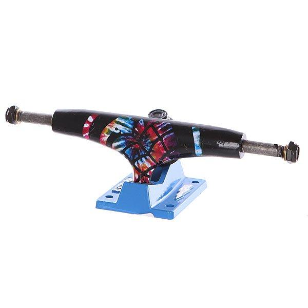 Подвеска для скейтборда 1шт. Thunder Psonoradelic Lo145 Blue/Black 5 (19.7 см)Ширина подвесок: 5 (19.7 см)    Высота подвесок: 52 мм    Цена указана за 1 шт, минимальное количество для заказа - 2 шт<br><br>Цвет: синий,черный<br>Тип: Подвеска для скейтборда