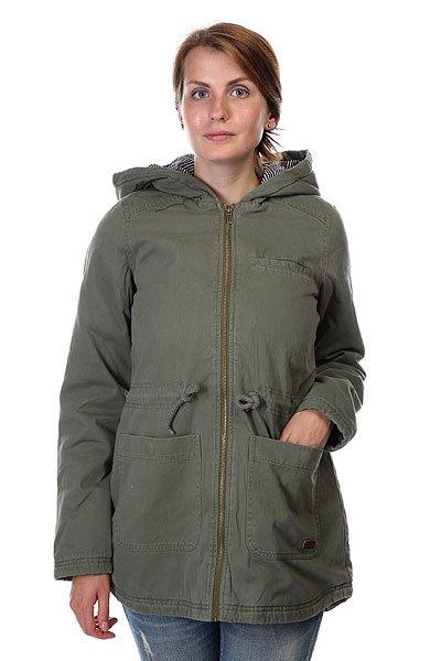 Куртка парка женская Roxy Primo Parka J Jckt Dusty Olive куртка парка женская roxy ferley j military olive