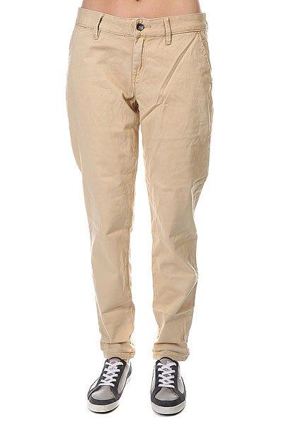 Штаны Roxy Sunkissers J Pant Lark<br><br>Цвет: бежевый<br>Тип: Штаны прямые<br>Возраст: Взрослый<br>Пол: Женский