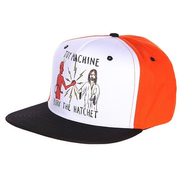 Бейсболка Toy Machine Bury The Hatchet Ii Cap Orange/Black