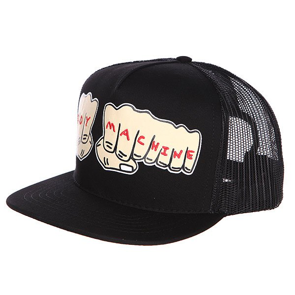 Бейсболка Toy Machine Fists Mesh Cap Black футболка toy machine destroy deck black