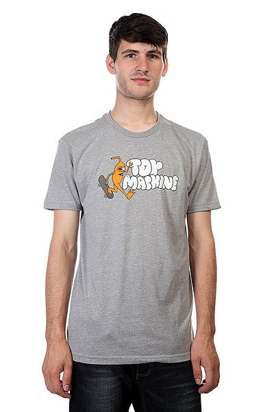 Футболка Toy Machine Jump Ramp Heather Grey толстовка классическая toy machine templeton cat heather