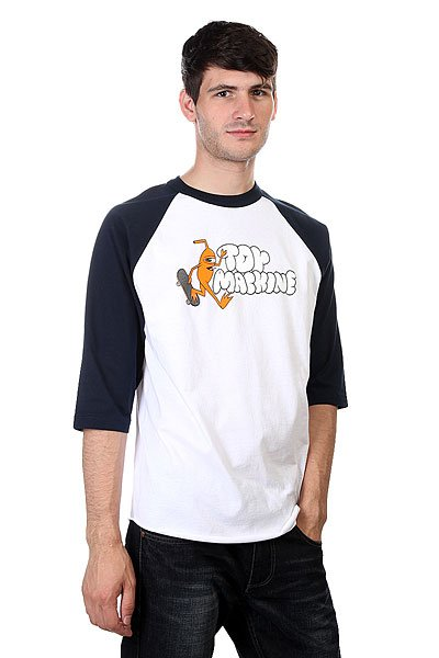 Лонгслив Toy Machine Jump Ramp Raglan Navy/White футболка toy machine blood river navy heather