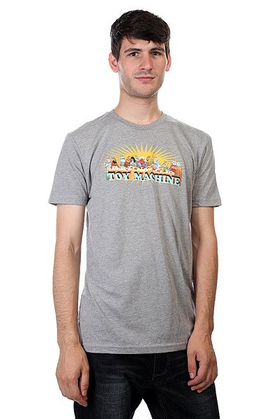 Футболка Toy Machine Last Supper Heather Grey футболка toy machine jump ramp navy