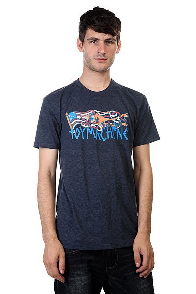 Футболка Toy Machine Flag Heather Navy футболка toy machine blood river navy heather