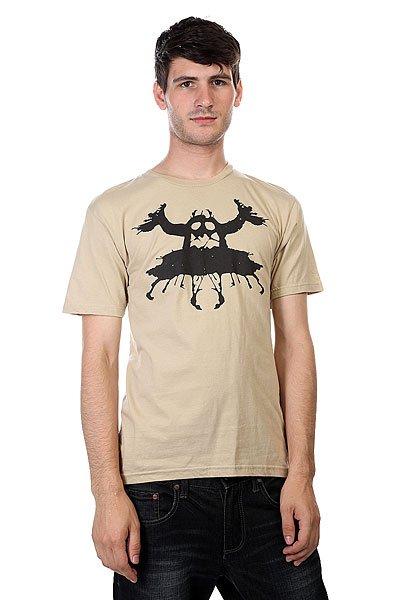 Футболка Toy Machine Rorschach Tan<br><br>Цвет: бежевый<br>Тип: Футболка<br>Возраст: Взрослый<br>Пол: Мужской