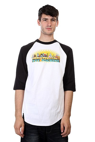 Лонгслив Toy Machine Last Supper Raglan Black/White