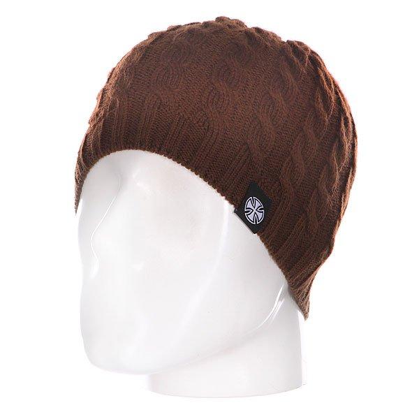 Шапка вязаная женская Independent Organic Cable Knit Brown<br><br>Цвет: коричневый<br>Тип: Шапка<br>Возраст: Взрослый<br>Пол: Женский