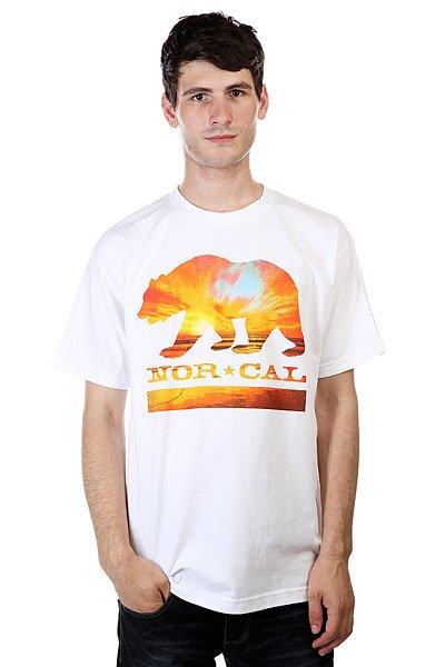 Футболка Nor Cal Sunset Bear White<br><br>Цвет: белый<br>Тип: Футболка<br>Возраст: Взрослый<br>Пол: Мужской