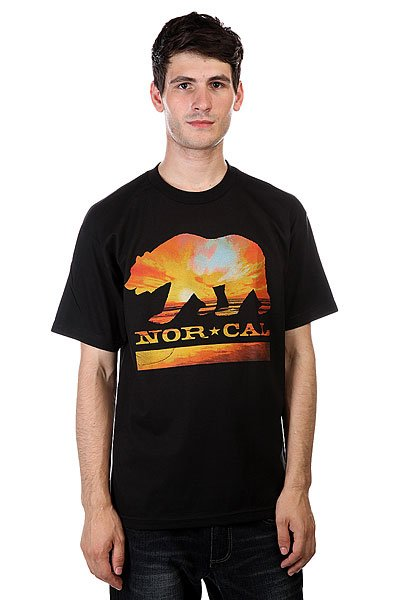 Футболка Nor Cal Sunset Bear Black футболка nor cal safe harbor turquoise