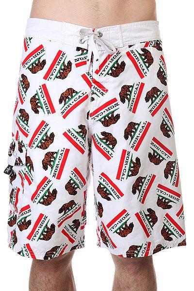 Шорты пляжные Nor Cal Republic Boardshort WhiteДанная модель имеет внутреннюю подкладку в виде сеточки<br><br>Цвет: белый<br>Тип: Шорты пляжные<br>Возраст: Взрослый<br>Пол: Мужской