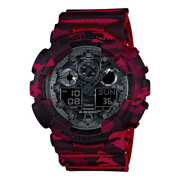цена на Часы Casio G-Shock Ga-100cm-4a Burgundy/Black